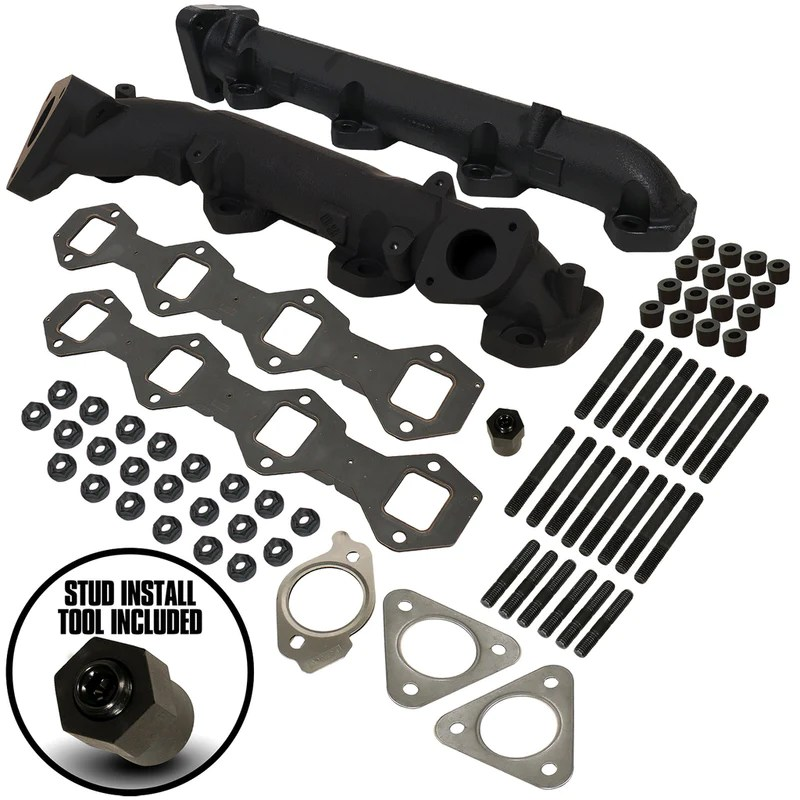 6 7l powerstroke exhaust manifold kit ford 2015 2019 f250 f350 pick up 2017 2019 f350 f450 f550 cab chassis