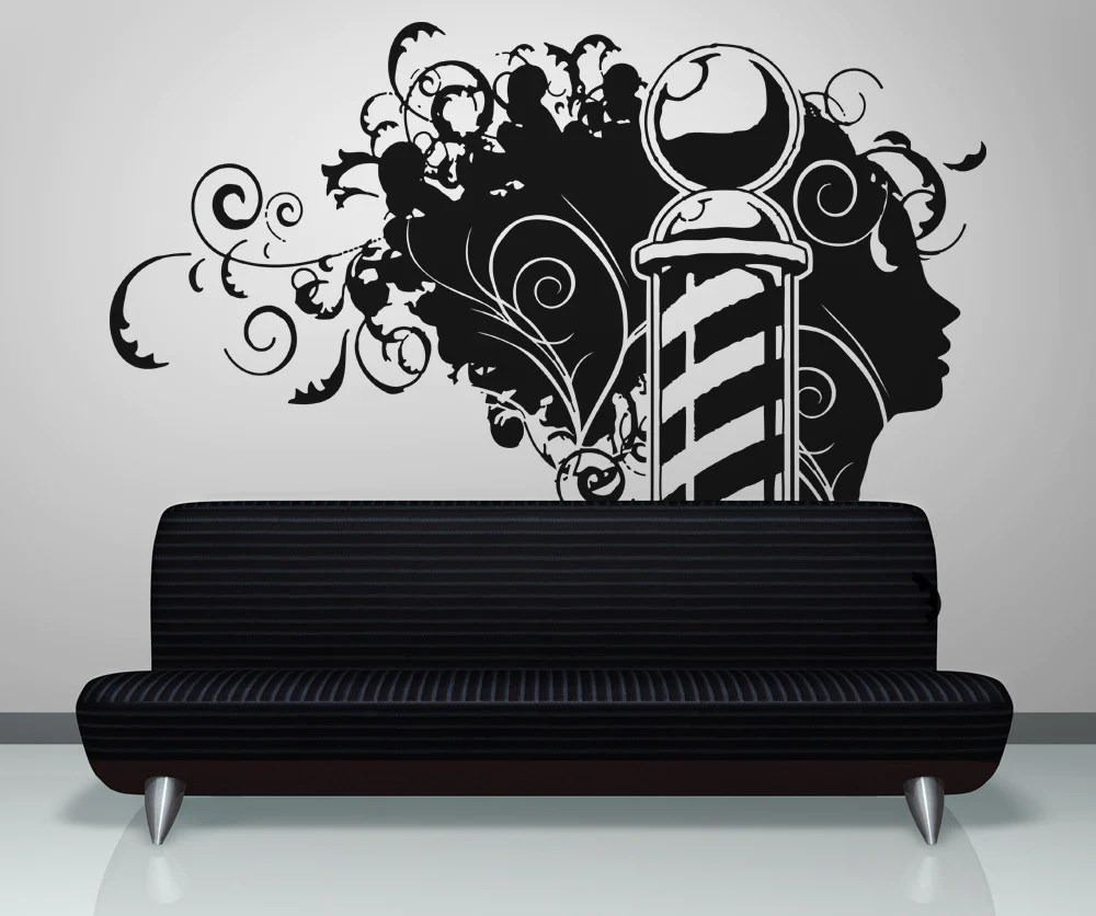 Barber Shop Wall Decals Barber Shop Stickers StickerBrand