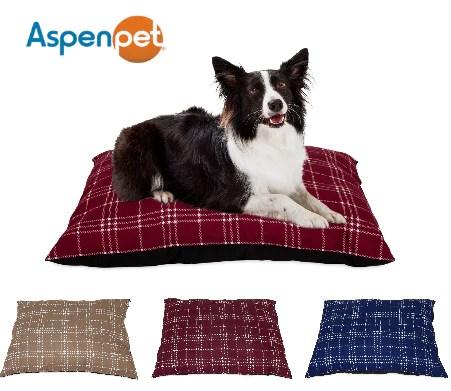 aspen pet 27x36 farmhouse plaid pillow bed