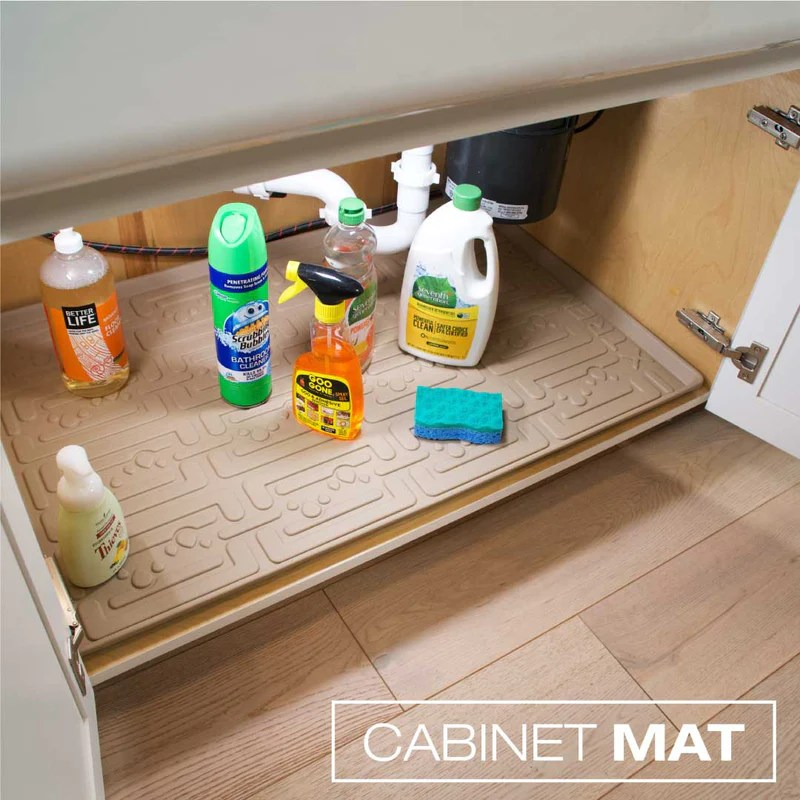 under sink cabinet mats for the kitchen bath and laundry w x d