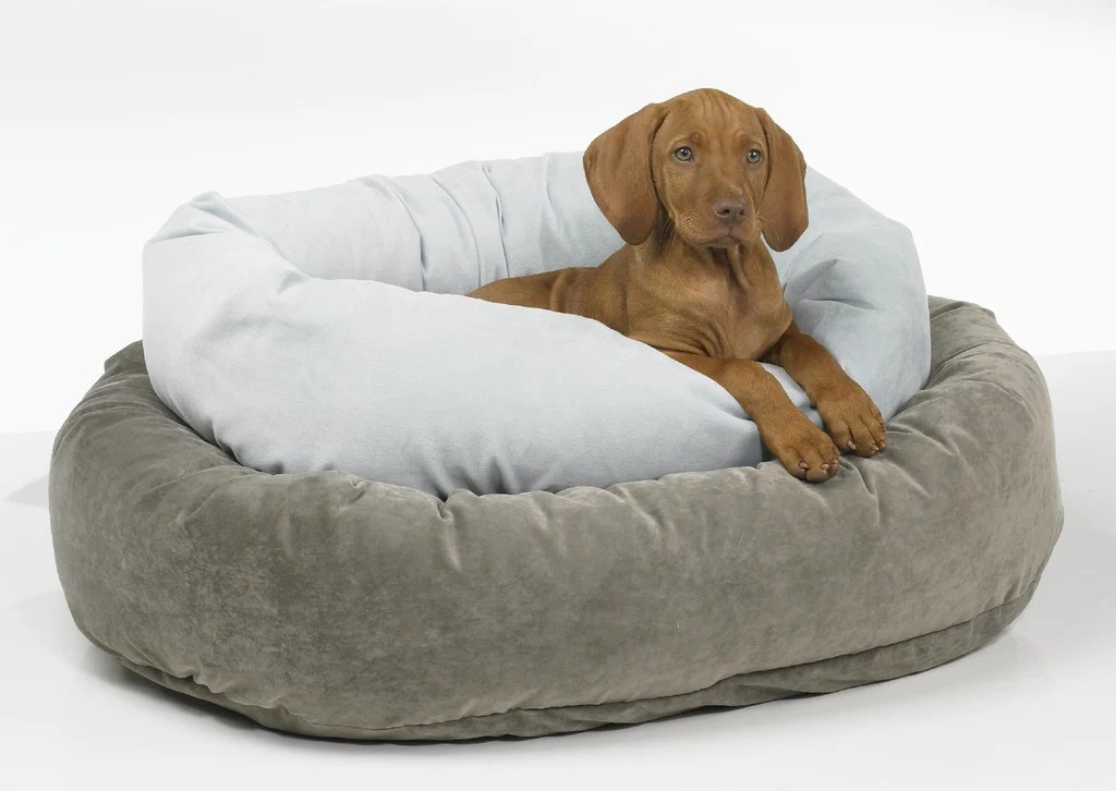 Bowsers Donut Deep Dish Solids Microvelvet Donut Dog Beds By Bowsers Big Wags