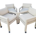 Vintage Milo Baughman For Thayer Coggin Dining Armchairs Set Of 4