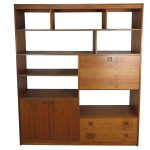 Mid Century Modern Rosewood Bookcase With Built In Secretary Desk Edgebrookhouse