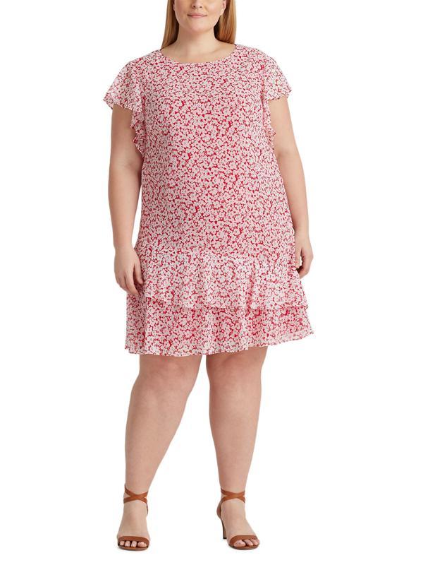 Persimmon Crepe Shift Dress