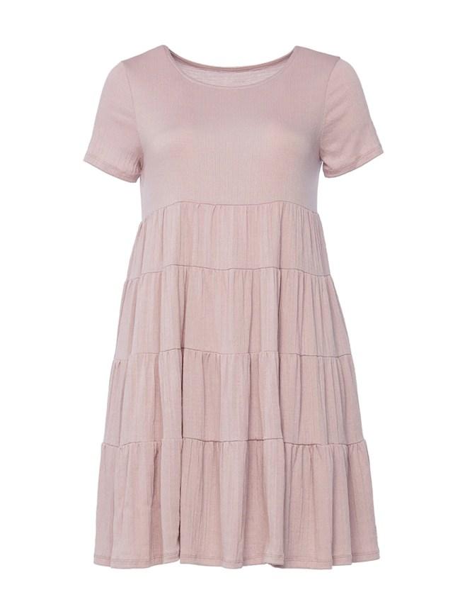 Mauve Tiered Dress