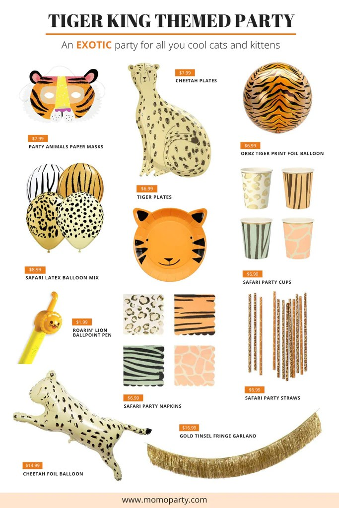 Quarantine And Tiger King Tiger King Themed Party Ideas Momo Party