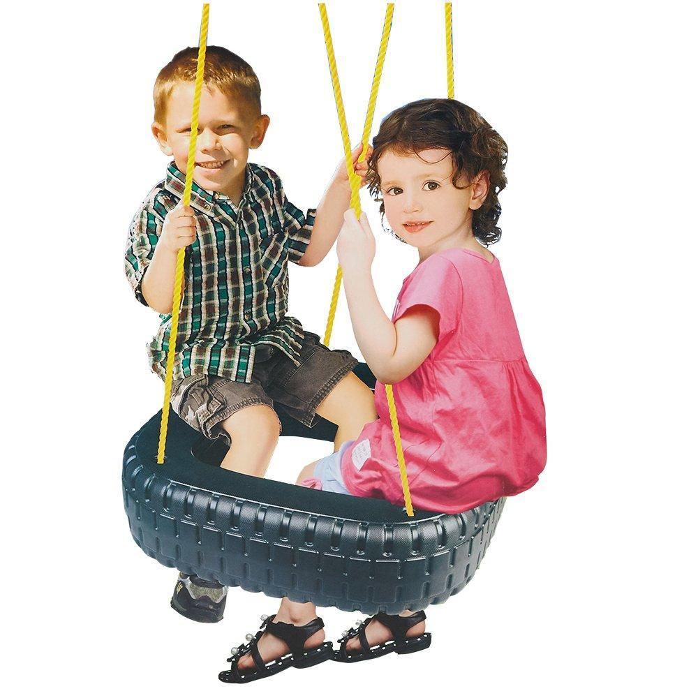 kids classic tire swing 2 kids outdoor garden backyard patio swing se bosonshop