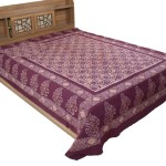 Batik Hand Printed Double Bedsheet Kutch Handicraft Ethnic Furnishing Ethnics Of Kutch