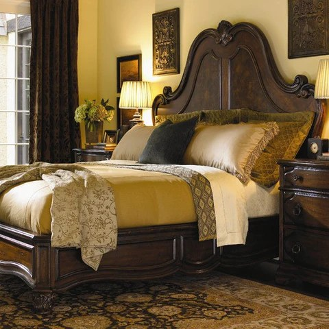 Grand Salon Bed In Rich Russet Brown By Lexington 01