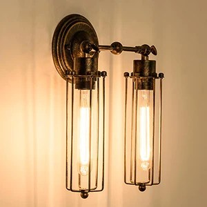 Mini Wire Cage Wall Lamp