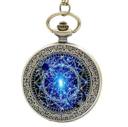 Steampunk Blue Magic Round Quartz Watch