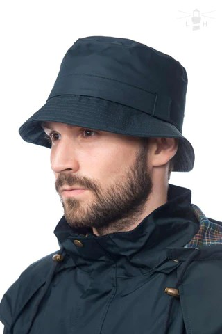 Lighthouse Mens York Waterproof Rain Hat, in Navy