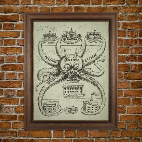 Federal Reserve Octopus Print - Liberty Maniacs