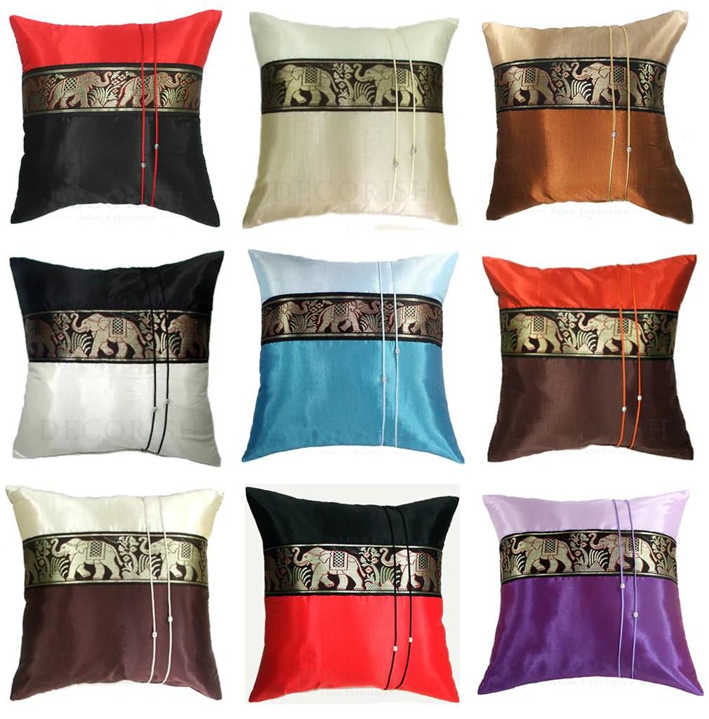 silk vintage decorative throw pillow
