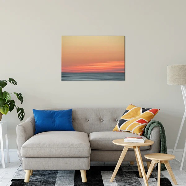 Abstract Color Blend Ocean Sunset as a limited edition, collectible signed museum quality canvas wall art print.