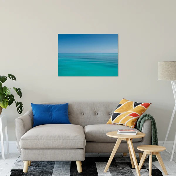 Colors of The Tropical Sea Abstract landscape photograph as a limited edition, collectible signed museum quality canvas wall art print.