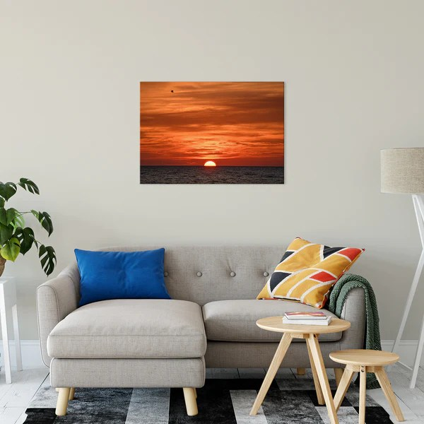 Fire in the Sky - Coastal Sunset as a limited edition, collectible signed museum quality canvas wall art print.