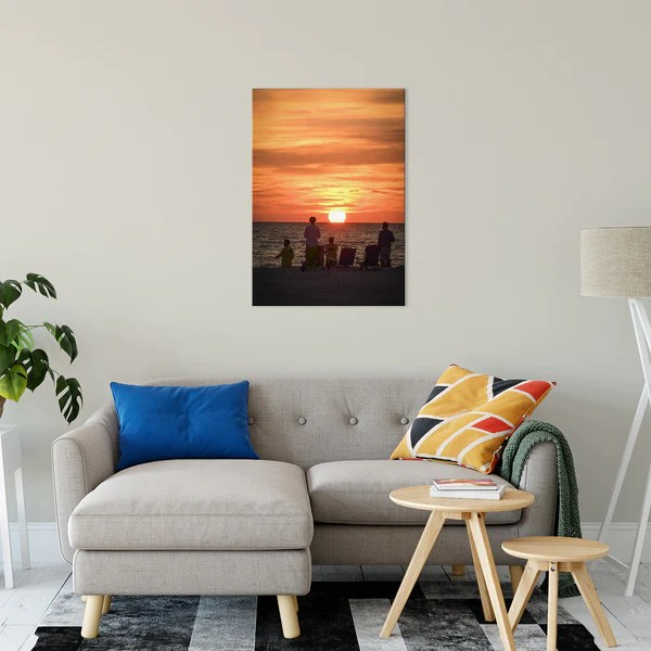 Summer Spectators Coastal Sunset landscape photograph as a limited edition, collectible signed museum quality canvas wall art print.