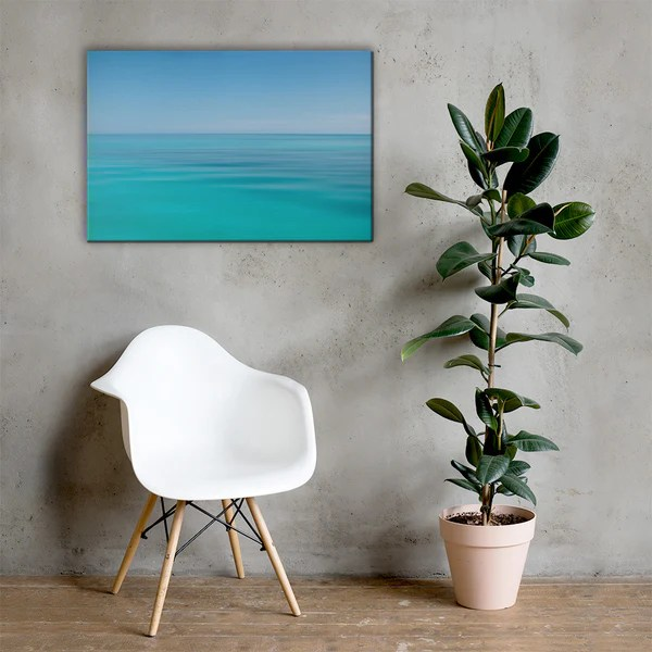 Colors of The Tropical Sea Abstract landscape photograph as a classic wall decorating canvas print
