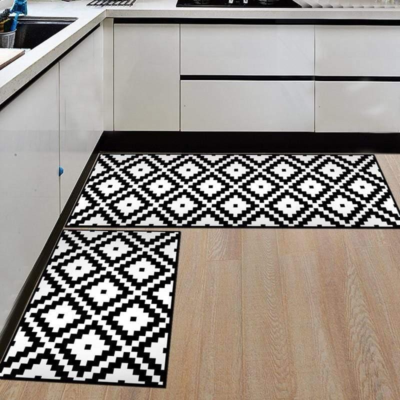 tapis de cuisine chic joli tapis