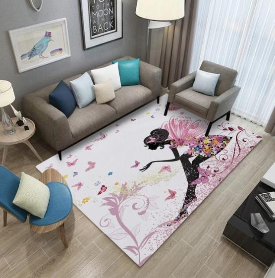 tapis chambre fille jolie fee