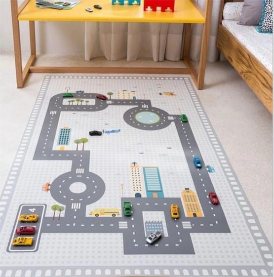 tapis chambre garcon circuit voiture en plastique