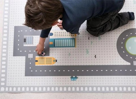 tapis circuit voiture plastique joli