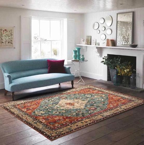 tapis de salon persan moderne