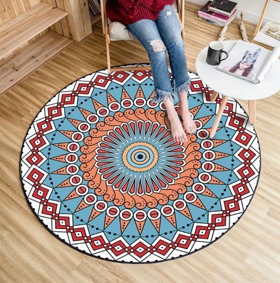 tapis rond motif mandala