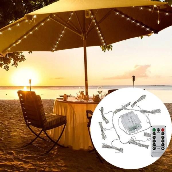 lighting mode 104 led patio umbrella