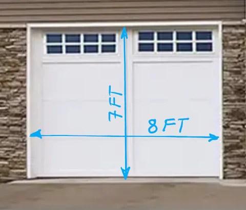 Garage Door 8ft x 7 ft