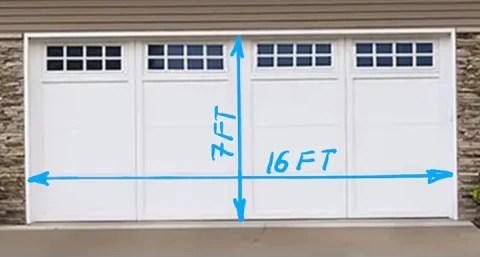 16ft x 7ft Garage Door
