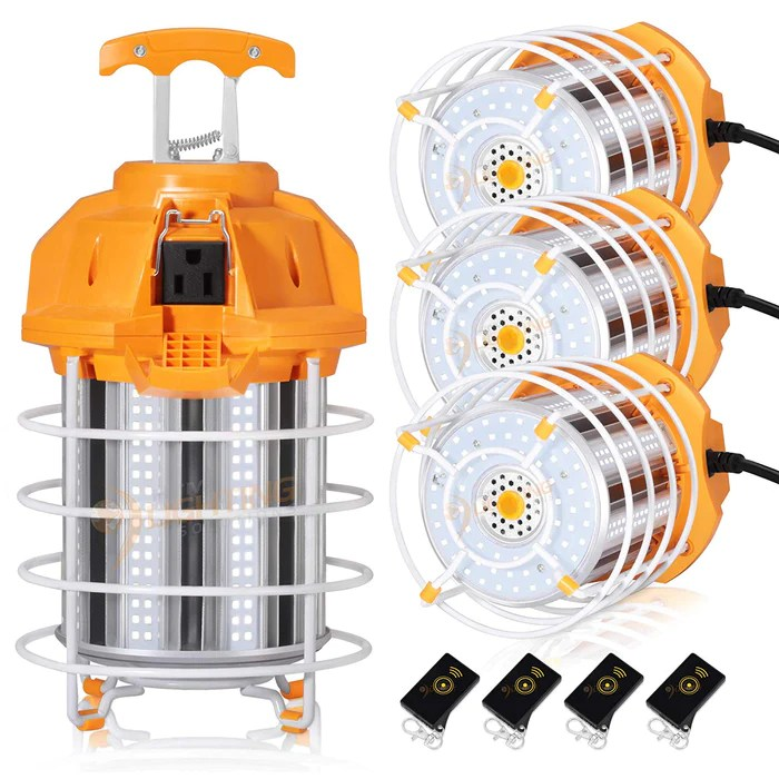 150w led temporary work light fixture 18000lm 5000k jobsite construction site 5 years warranty