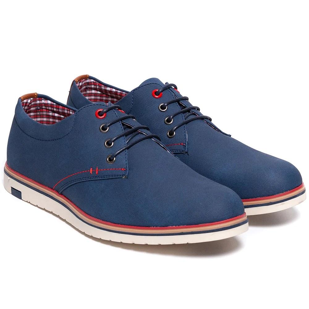 Pantofi barbati Clayton cu talpa interioara din piele naturala Bleumarin