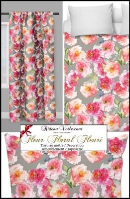 boutique tissus fleuris ameublement au metre tapisserie imprimes fleurs occultant