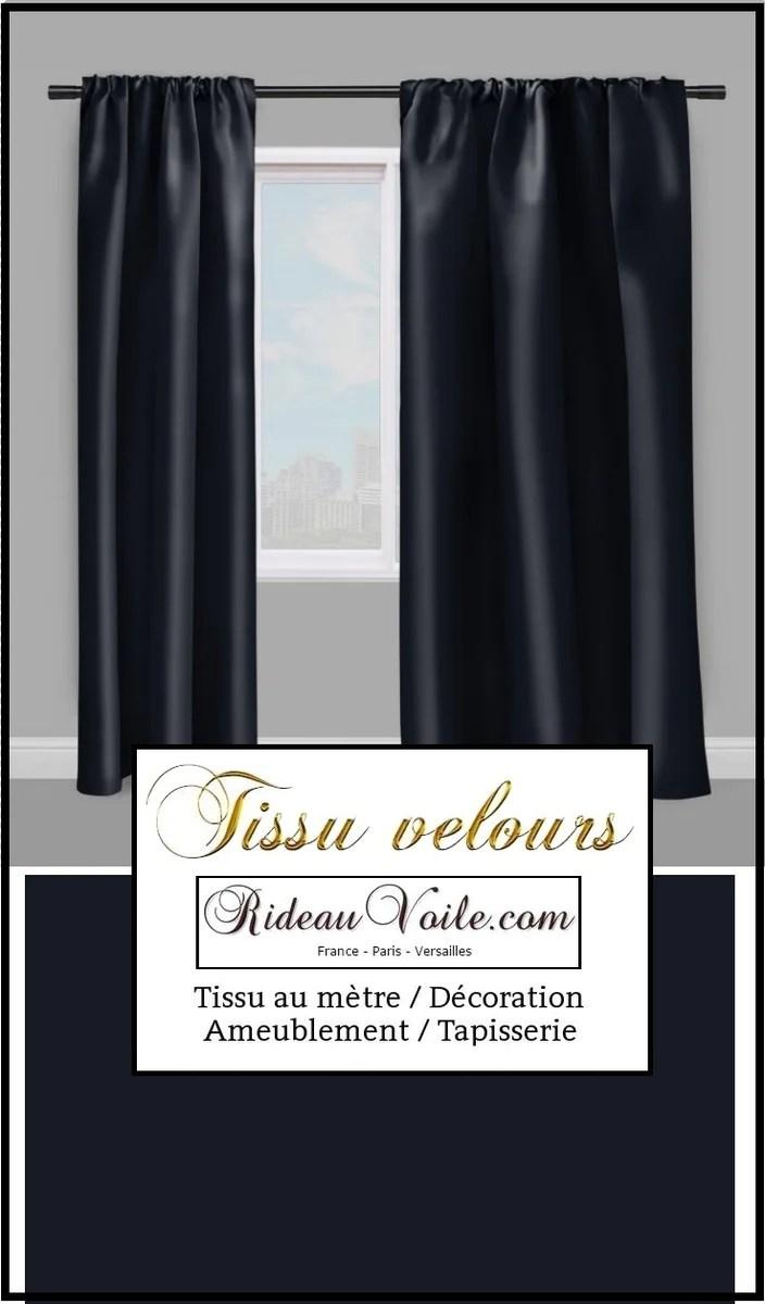 boutique tissu velours bleu marine au metre decoration rideau coussin rideauvoile