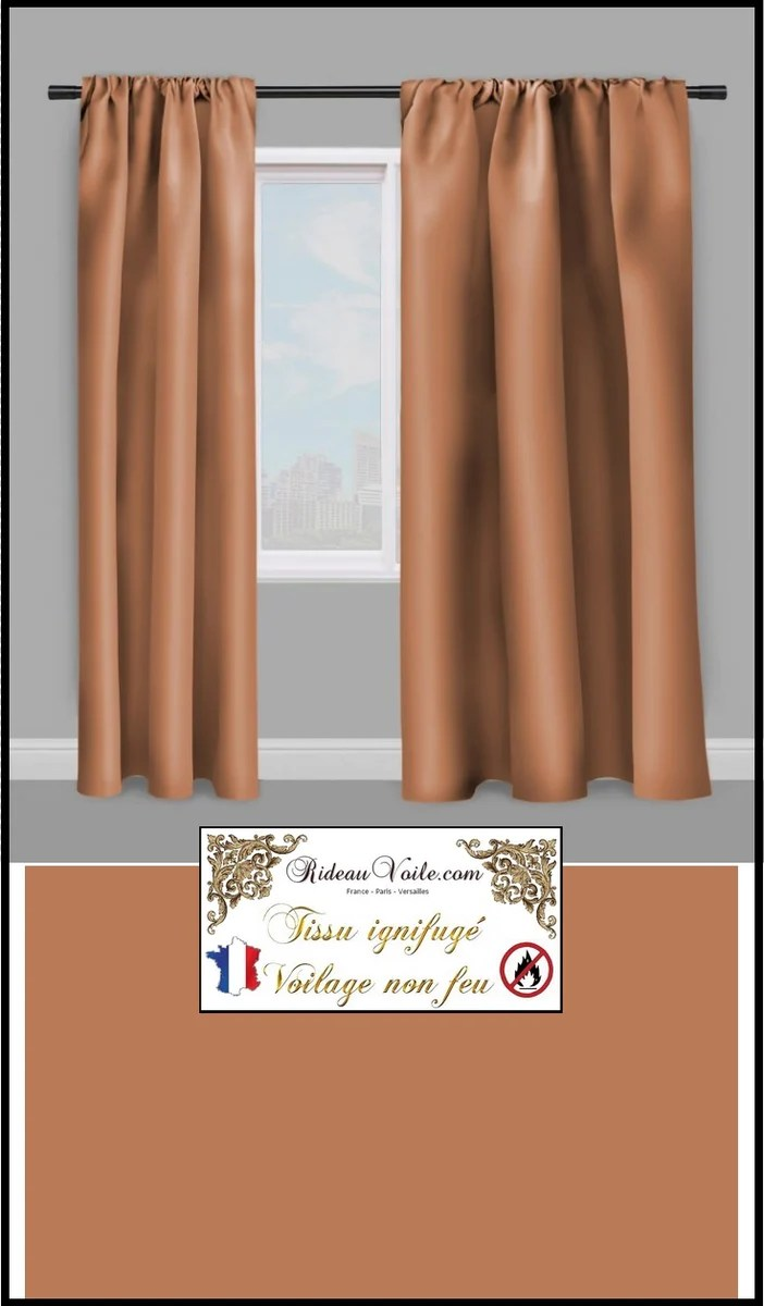voilage ignifuge m1 au metre rideau tissu voile marron chataigne rideauvoile