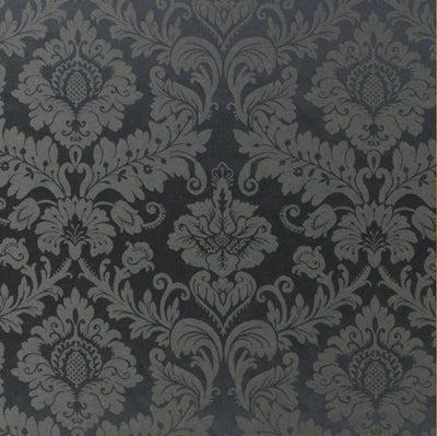 tissu damasco metre jacquard baroque damasse anthracite french fabrics damask