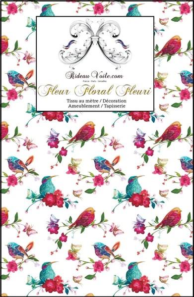 decoratrice florale imprime d oiseaux tissu ameublement au metre motif fleurs