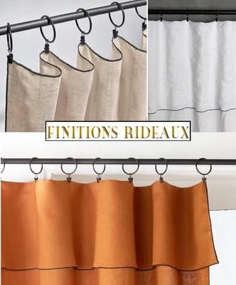 finition points bourdon rideau voilage tenture pret a poser anneaux a pinces