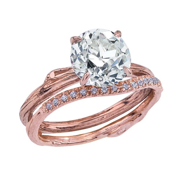 Custom Order Antique Pre Owned Diamond In Rose Gold In