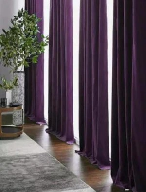 eggplant purple luxury velvet curtains custom made curtain panels rod pocket panels