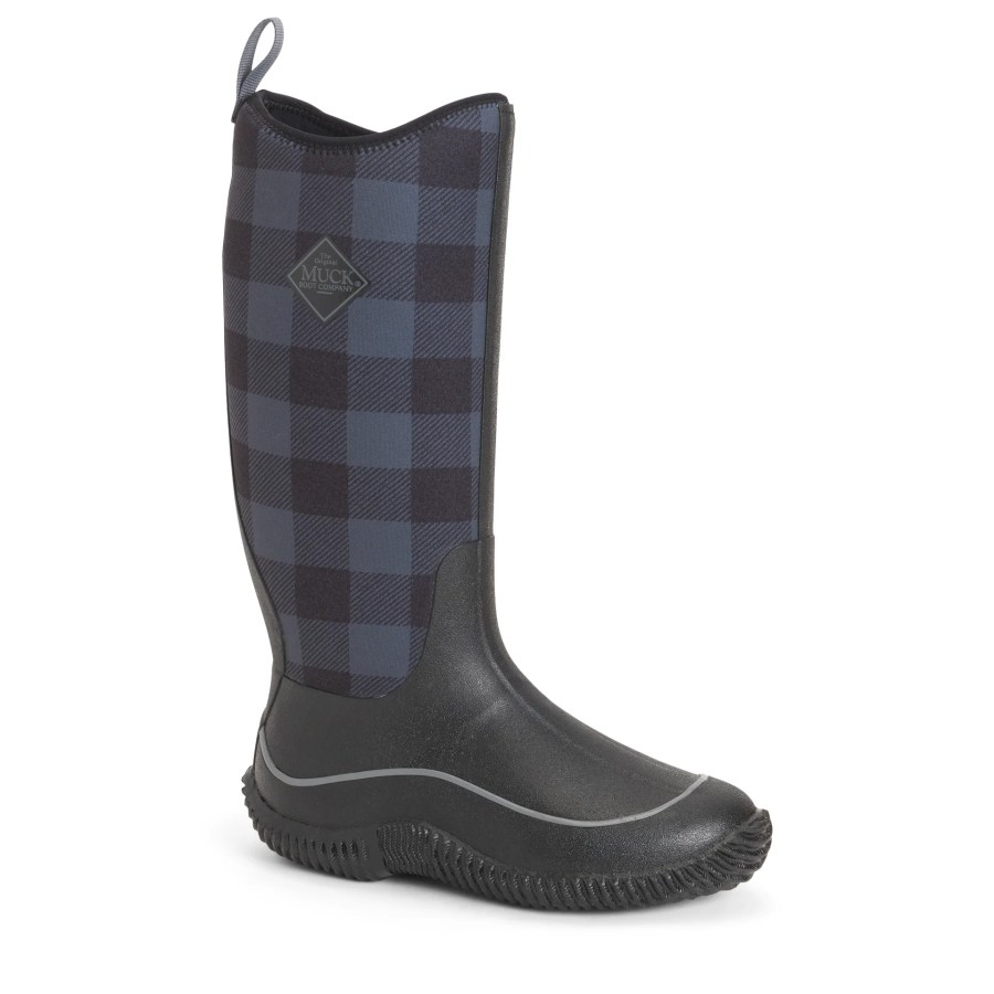 Women's Hale Plaid Boots in Black/Grey Plaid | 100% Waterproof | Size 8 | Neoprene | The Original Muck Boot Company