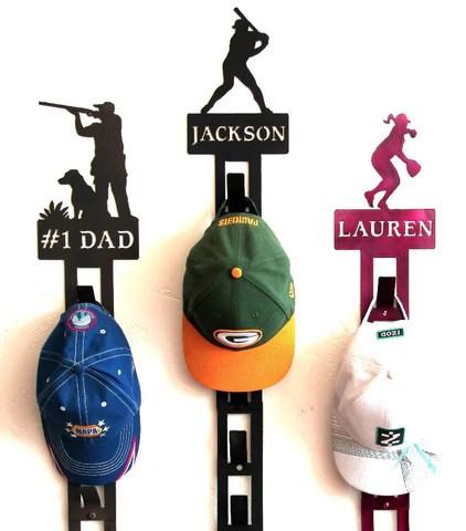 personalized baseball hat holder personalized baseball hat rack baseball cap display