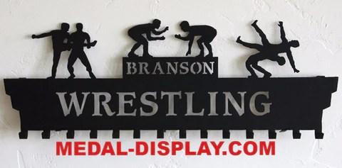 wrestling medals hanger personalized medal display wrestling medal holder