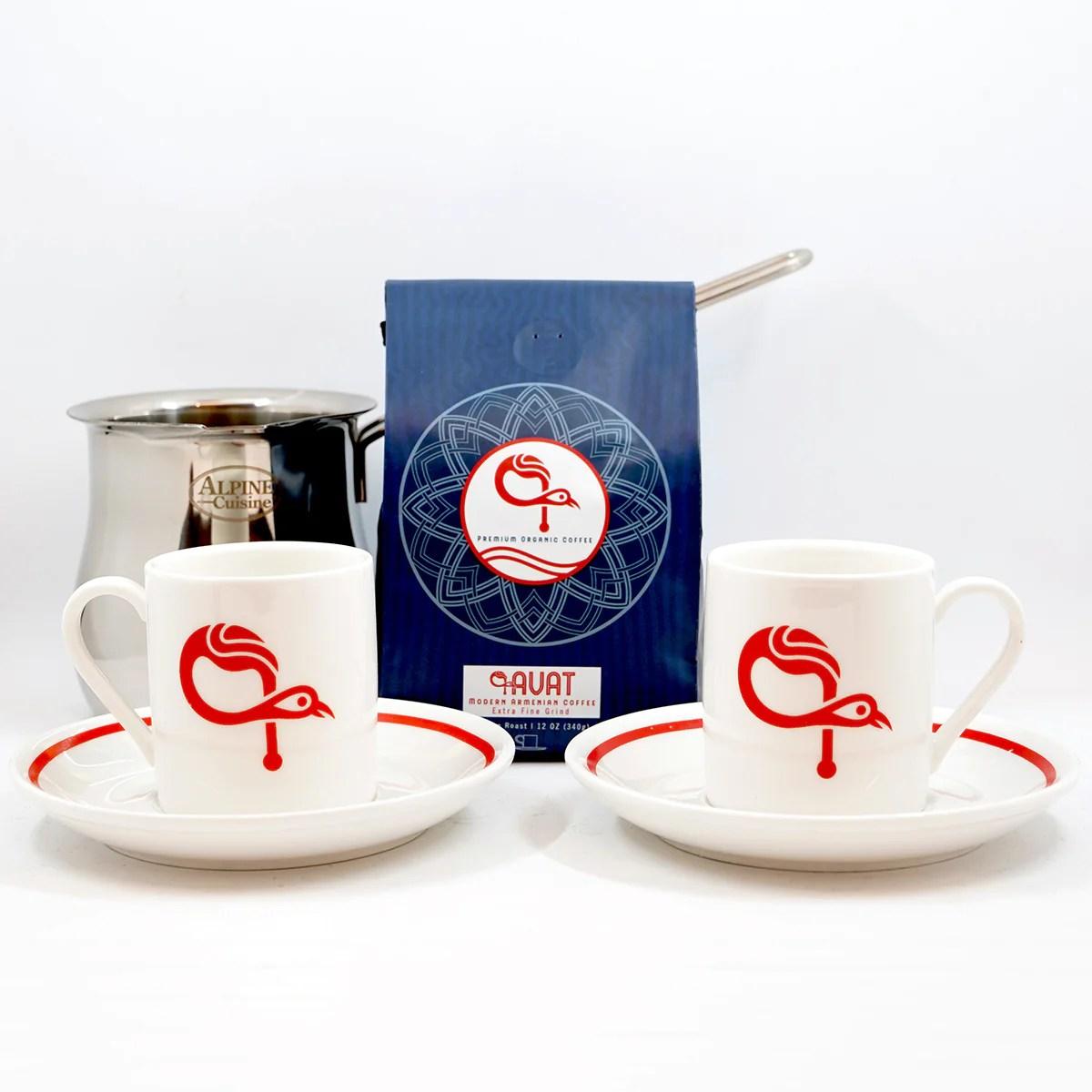armenian coffee starter set gift pack signature Õ£avat coffee cups