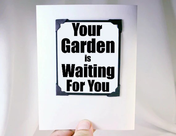Retirement Greeting Card With Gardener Magnet Quote Kat