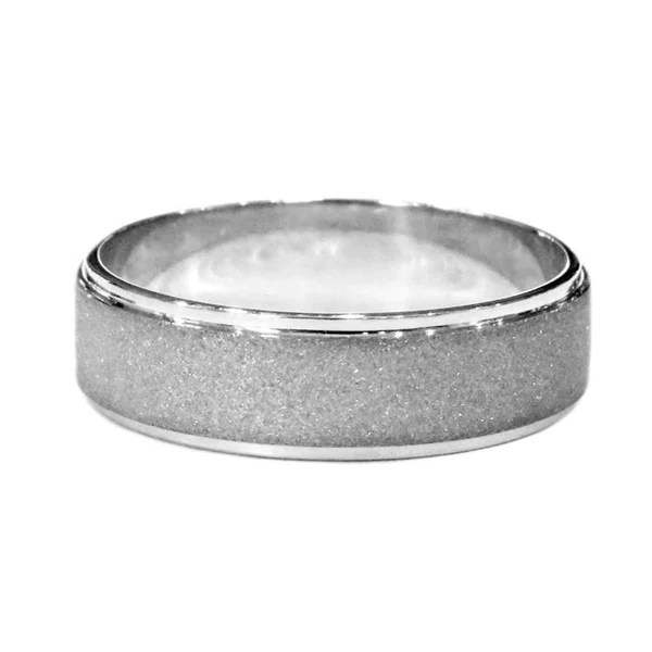 Norwood Mens Wedding Band With Diamond Dust Texture