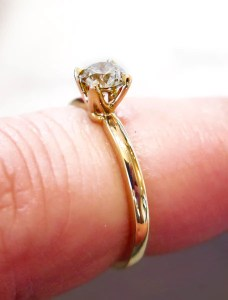 Petite Astrid Champagne Diamond Engagement Ring in Yellow Gold         PETITE ASTRID DIAMOND RING