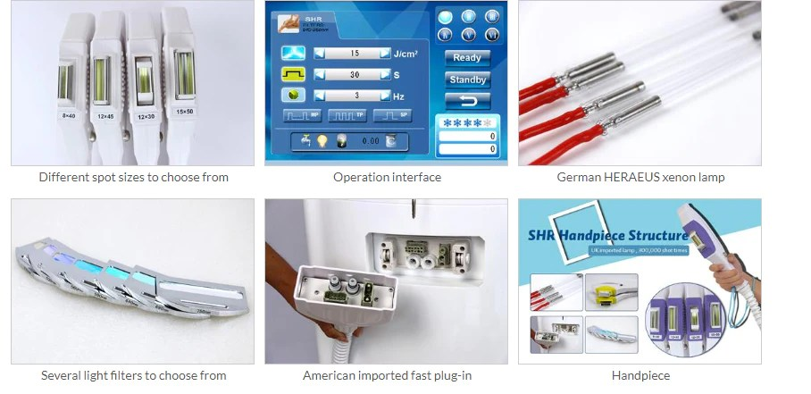 Details of KM300+ OPT SHR Super Hair Removal Machine